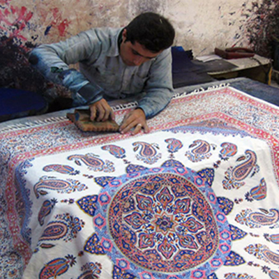 Hand-Printed Textile ( Ghalamkar)