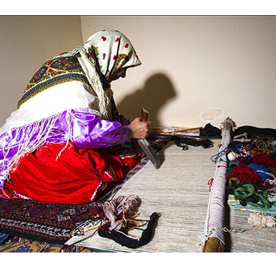 Persian Nomadic Kurdish Kilim (Sofreh)