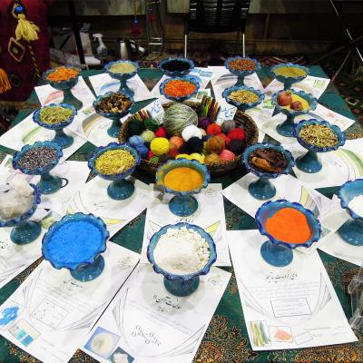 Natural dyes in rugs