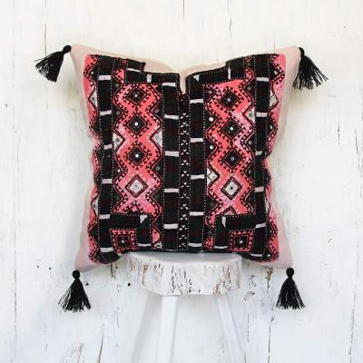 Tribal mirror work and hand embroidered pillow covers