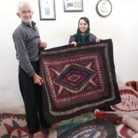 Making process of Persian felt rugs