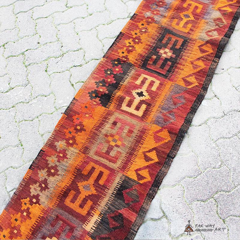 Antique Baluch Tribal Kilim Runner Rug