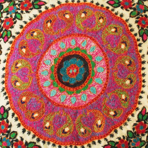Boho hand embroidered Pillow cushion