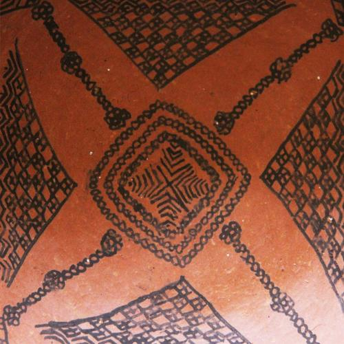 Indigenous decorative pottery plate historical pottery