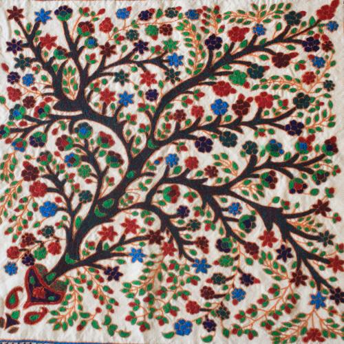 Tree of life hand embroidery tapestry untitled 3