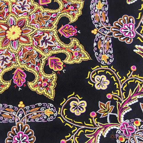 Luxury Hand Embroidered Wall Hanging chrocheting on fabric2 farwayart
