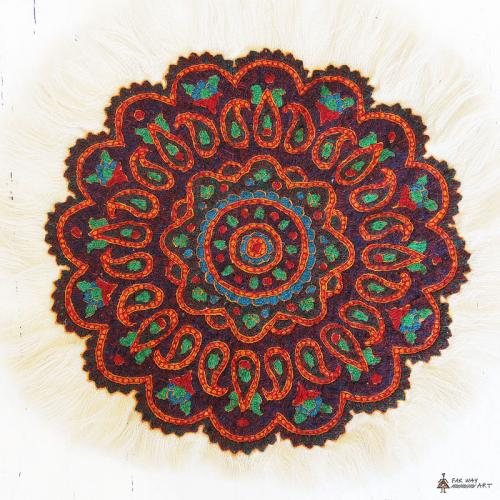 Ethnic Hand Embroidered Mandala Tablecloth