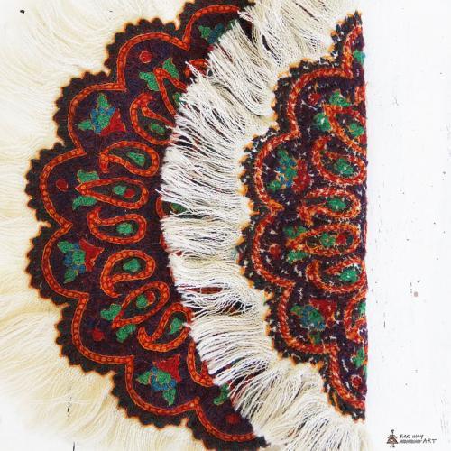 Ethnic Hand Embroidered Mandala Tablecloth embossed ethnic hand embroidery2 farwayart