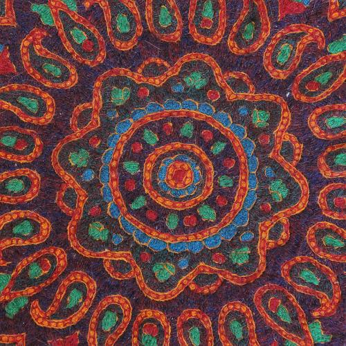 Ethnic Hand Embroidered Mandala Tablecloth embossed ethnic hand embroidery4 farwayart