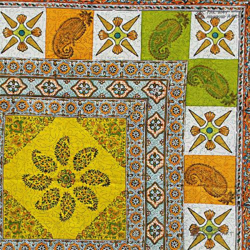 Vibrant Hand Block Printed Mandala Tapestry farwayart hand block print mandala farwayart