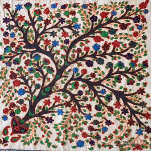 Tree Of Life Hand Embroidery Tapestry farwayart suzani textile art farwayart