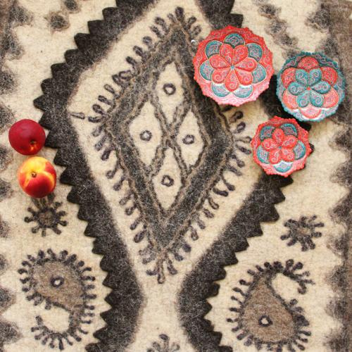Persian Handmade Wool Felt Rug felt floor cover farwayart
