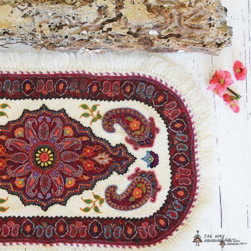 Persian Ethnic Hand Embroidered Textile hand embroidery tablecloth4 farwayart