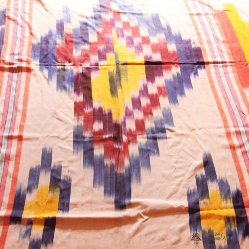 Handwoven Ikat Blanket, Throw handwoven ikat farwayart