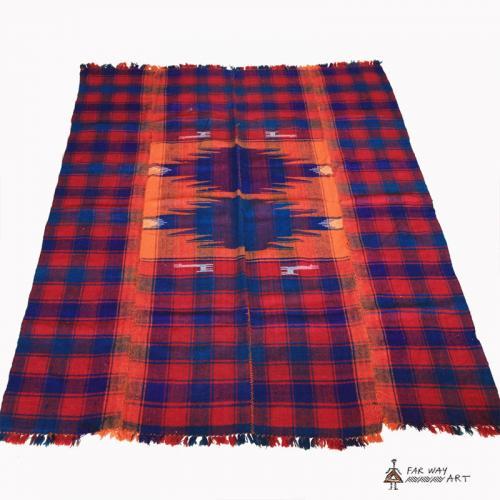 Tribal Handmade Wool Blanket jajim flatwoven rug2 farwayart