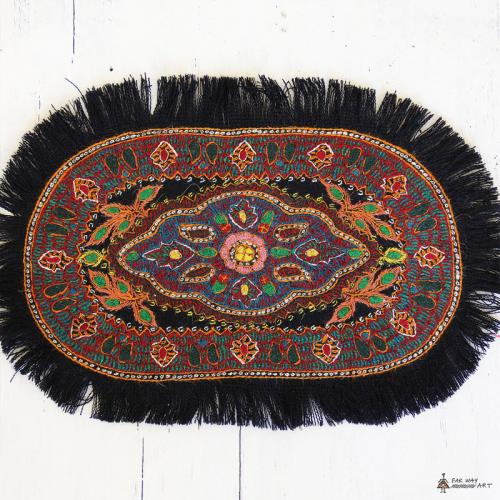 Ethnic Hand Embroidery Textile persian ethnic embroidery textile farwayart
