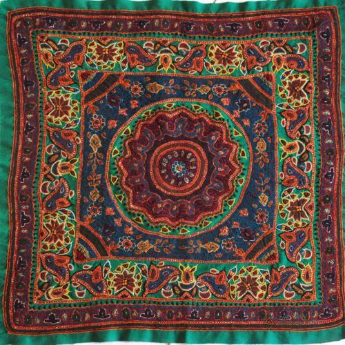 Hand Embroidered Mandala Tapestry Wall Hanging suzani wall hanging farwayart