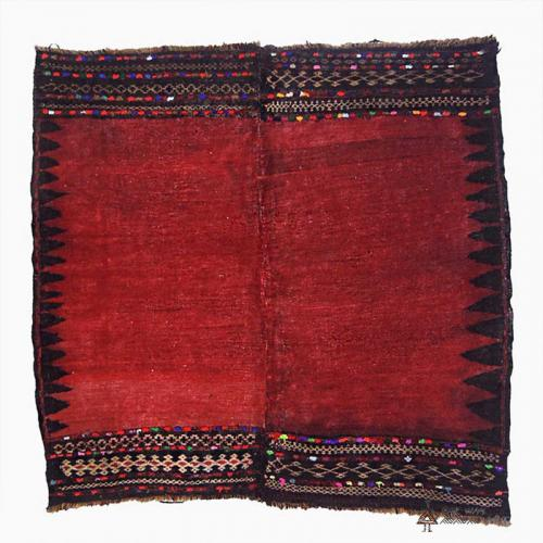 Antique Persian tribal rug (Baluch sofreh)