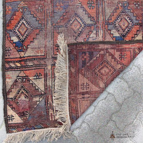 Persian Antique Tribal Rug Wall Hanging antique persian tribal rug wallhanging3 farwayart