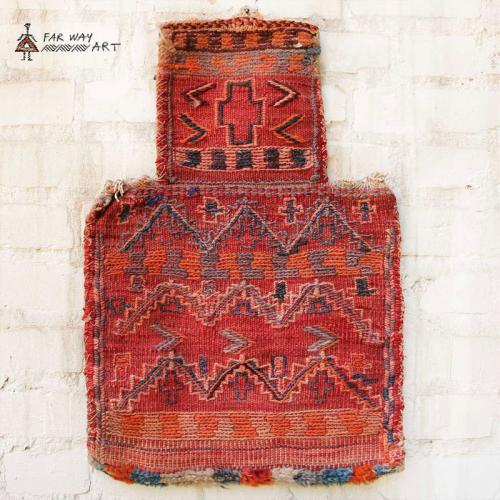 Antique Persian Wall Kilim Salt Bag