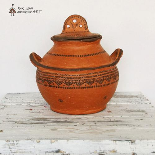 Decorative Tribal Pottery Pot bohemian home decor farwayart