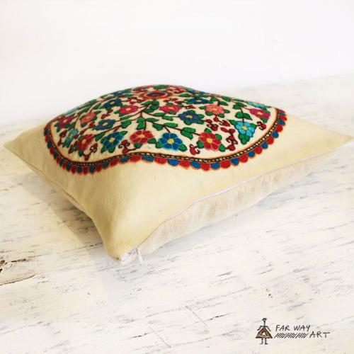 Hand-embroidered Suzani Pillow Cover bohemian pillow3 farwayart