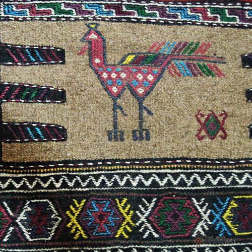 Persian nomadic rug (Kurdish Sofreh) bohemian rug decor2 farwayart