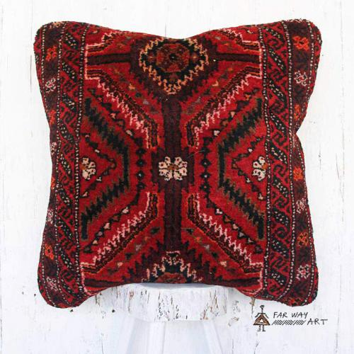 Large Persian Red Carpet Pillow