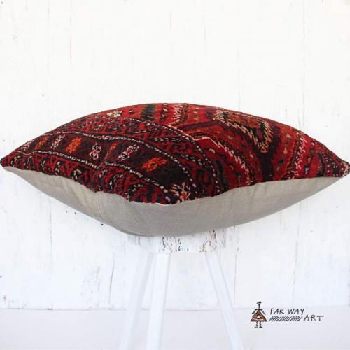 Large Persian Red Carpet Pillow carpet pillow farwayart2