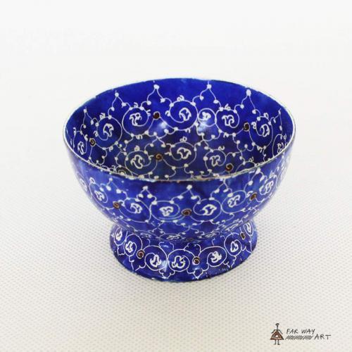 """Hand-Painted Plate & Bowl (Persian """"Meenakari"""") handpainted bowl plate2 farwayart"""