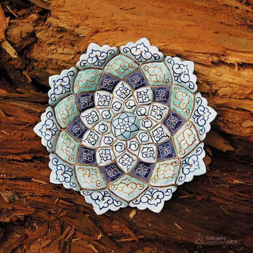 Persian Hand Painted Mandala Plate Wall Art