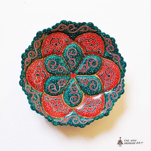 Hand-painted & Enameled Mandala Plates (Meenakari) handpainted plates4 farwayart