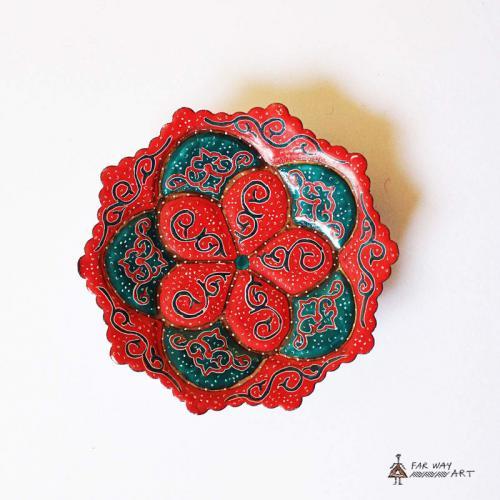 Hand-painted & Enameled Mandala Plates (Meenakari) handpainted plates6 farwayart