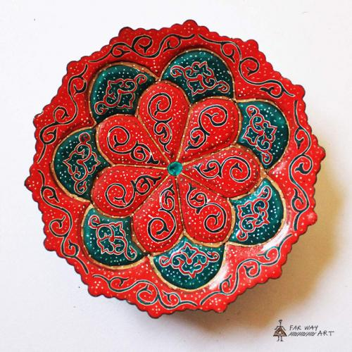 Hand-painted & Enameled Mandala Plates (Meenakari) handpainted plates7 farwayart