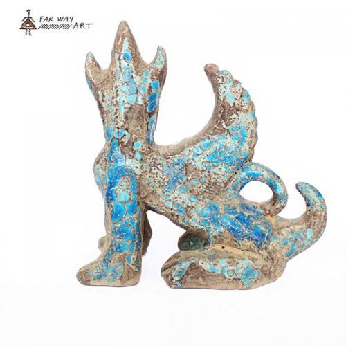 Persian Ancient Creature Pottery Sculpture hegmataneh pottery 2 farwayart