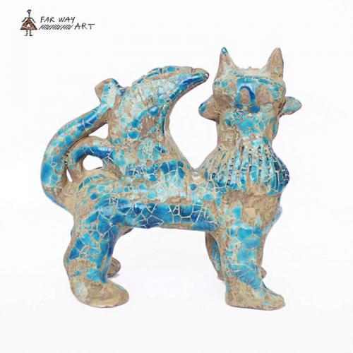 Decorative Persian Ancient Creature Pottery Sculpture hegmataneh pottery 3 farwayart