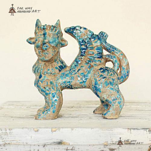 Decorative Persian Ancient Creature Pottery Sculpture