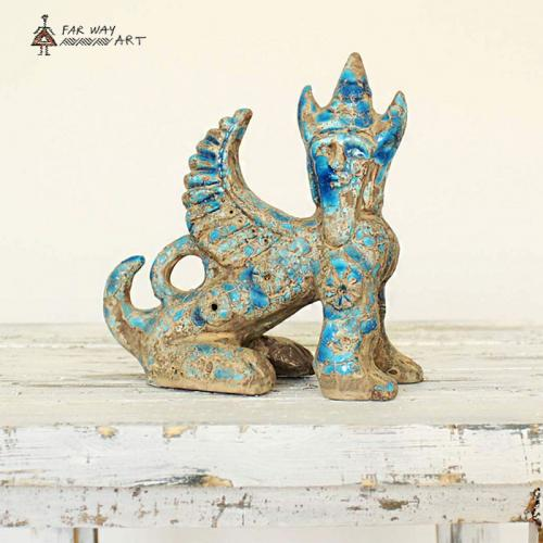 Persian Ancient Creature Pottery Sculpture