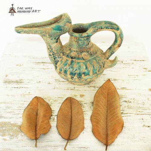 Persian Oil Lamp Pottery Vase home decor pottery3 farwayart