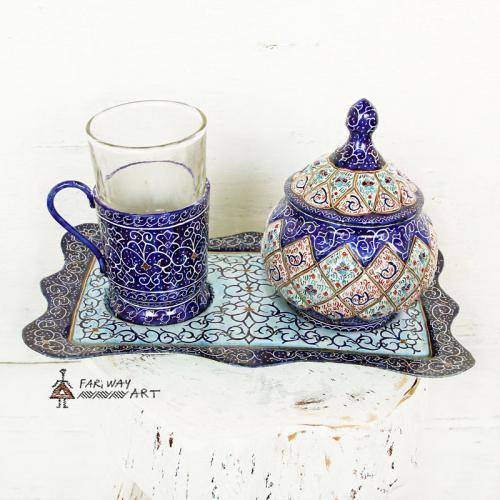 Meenakari Tea Set meenakari tea set farwayart 4