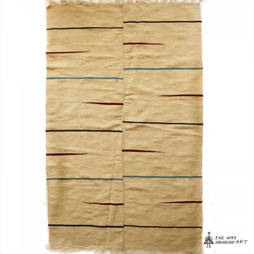 Mazandaran Minimal Flat Woven Rug minimal modern rug farwayart