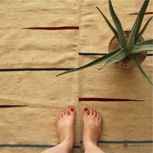 Mazandaran Minimal Flat Woven Rug modern handmade rug farwayart