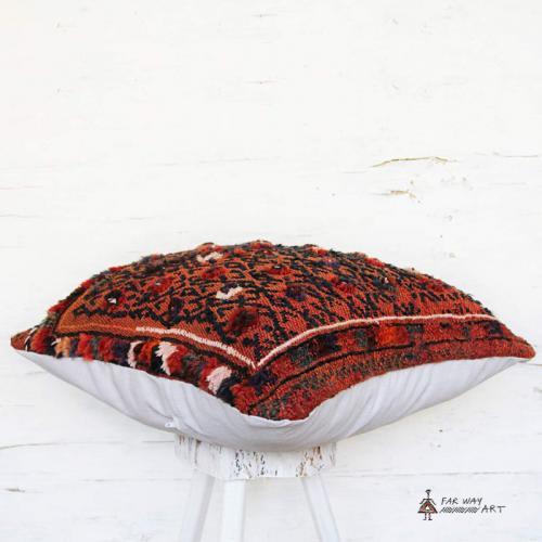 Oriental Tribal Kilim Pillow nomad rug pillow4 farwayart