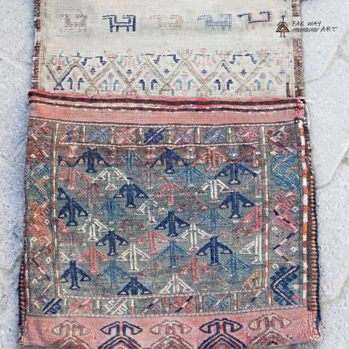 Antique Turkmen Nomad Saddle Bag Rug nomadic saddle bag rug2 farwayart