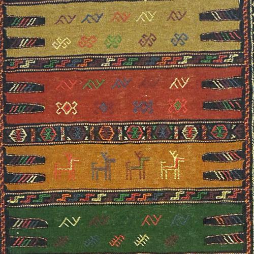 Persian nomadic kilim ( Kurdish Sofreh ) nomaric rug farwayart