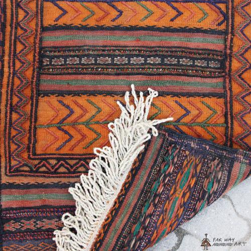 Semi-antique Persian Orange nomadic Kilim persia orange tribal kilim2 farwayart