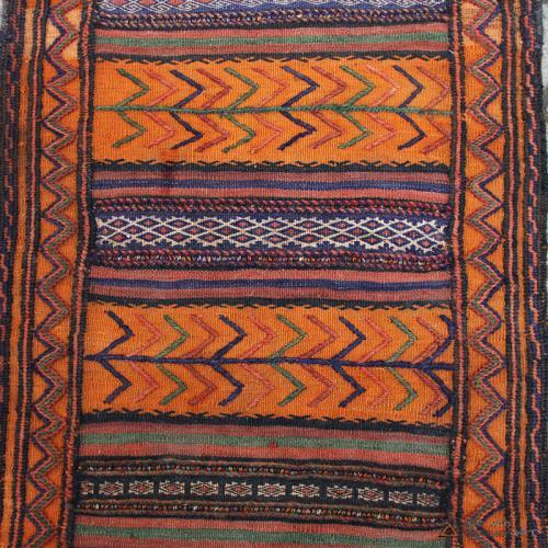 Semi-antique Persian Orange nomadic Kilim persia orange tribal kilim3 farwayart