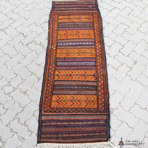 Semi-antique Persian Orange nomadic Kilim persia orange tribal kilim4 farwayart