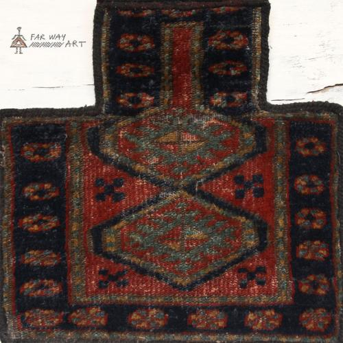 Antique Persian tribal salt bag rug persian antique nomadic salt bag farwayart4