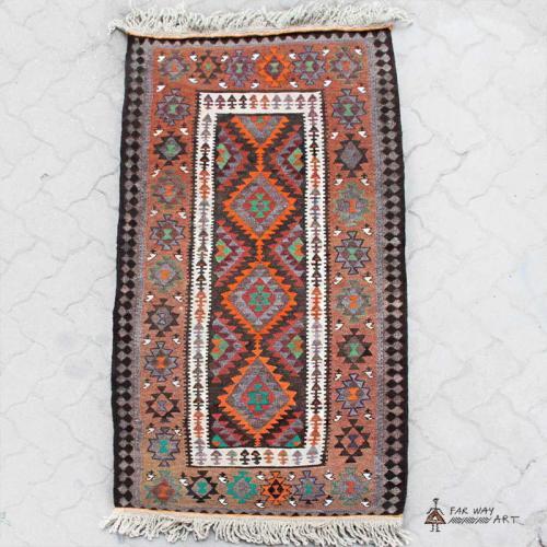 Persian Nomadic Kilim (Turkmen Tribal) persian kilim3 farwayart